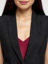 Жилет приталенный базовый oodji для женщины (черный), 12300099-10B/14917/2900N