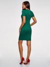 Платье облегающего силуэта на молнии oodji #SECTION_NAME# (зеленый), 14011025/42588/6E00N - вид 3