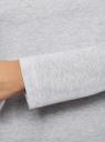 Футболка с рукавом реглан и надписью на груди oodji для женщины (серый), 59811021-1/48314/2025Z