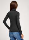 Водолазка базовая облегающая oodji для женщины (черный), 15E11001-3B/45297/2900N