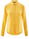Блузка базовая из вискозы oodji #SECTION_NAME# (желтый), 11411136B/26346/5100N