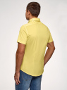 Рубашка базовая с коротким рукавом oodji #SECTION_NAME# (желтый), 3B240000M/34146N/5200N - вид 3