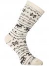 Комплект из трех пар хлопковых носков oodji для женщины (разноцветный), 57102902-4T3/10231/8 - вид 3