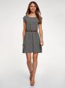 Платье вискозное без рукавов oodji #SECTION_NAME# (черный), 11910073B/26346/2912G - вид 2