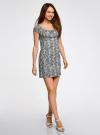 Платье хлопковое со сборками на груди oodji #SECTION_NAME# (серый), 11902047-2B/14885/7912L - вид 6