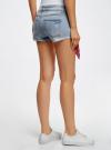 Шорты джинсовые с банданой oodji #SECTION_NAME# (синий), 12807088/46787/7000W - вид 3