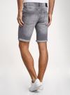 Шорты джинсовые с потертостями oodji #SECTION_NAME# (серый), 6L220021M-1/46627/2300W - вид 3