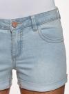 Шорты джинсовые базовые oodji #SECTION_NAME# (синий), 12807025-3B/46253/7000W - вид 4