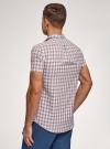Рубашка приталенная с коротким рукавом oodji #SECTION_NAME# (разноцветный), 3L410071M/44181N/1031C - вид 3