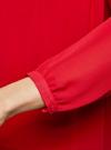 Блузка из шифона свободного силуэта с завязками oodji #SECTION_NAME# (красный), 21400402/17358/4500N - вид 5