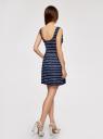 Платье трикотажное без рукавов oodji для женщины (синий), 14005132/42865/7910P