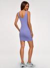 Платье-майка трикотажное облегающее oodji #SECTION_NAME# (фиолетовый), 14001210/48152/8001N - вид 3