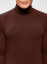 Водолазка базовая облегающая oodji для мужчины (красный), 5B513001M/46737N/4900N