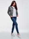 Куртка стеганая с круглым вырезом oodji для женщины (черный), 10203072B/42257/2923L - вид 6