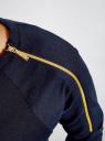 Платье трикотажное с декоративными молниями на плечах oodji #SECTION_NAME# (синий), 24007026/37809/7900N - вид 5