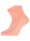 Комплект из трех пар хлопковых носков oodji для женщины (оранжевый), 57102804T3/48022/28 - вид 2