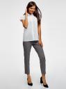 Рубашка хлопковая с коротким рукавом oodji для женщины (белый), 13K11001/46401/1000N