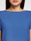 Блузка вискозная свободного силуэта oodji для женщины (синий), 21411119-1/26346/7500N - вид 4