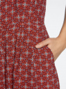 Комбинезон летний из вискозы oodji для женщины (красный), 12202002/42800/4929E