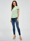 Рубашка базовая с коротким рукавом oodji #SECTION_NAME# (зеленый), 11402084-5B/45510/6500N - вид 6