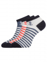 Комплект из трех пар укороченных носков oodji для женщины (разноцветный), 57102433T3/47469/31