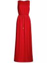 Платье длинное из струящейся ткани oodji для женщины (красный), 21900323/42873/4500N