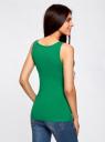 Майка базовая oodji для женщины (зеленый), 24315001B/46147/6D00N