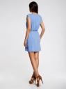 Платье вискозное без рукавов oodji #SECTION_NAME# (синий), 11910073B/26346/7501N - вид 3