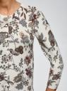 Кардиган укороченный с рукавами 3/4 oodji для женщины (слоновая кость), 73212386/42255/1262F