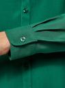 Блузка базовая из вискозы oodji #SECTION_NAME# (зеленый), 11411136B/26346/6E01N - вид 5