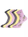 Комплект из шести пар носков oodji для женщины (разноцветный), 57102466T6/47469/27