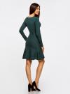 Платье вязаное с расклешенным низом oodji для женщины (зеленый), 63912223/46096/6E00N - вид 3