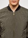 Куртка стеганая с резинками на манжетах и воротнике oodji #SECTION_NAME# (зеленый), 1L111021M/46344N/6600N - вид 4