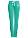 Брюки трикотажные с завязками oodji #SECTION_NAME# (зеленый), 16700045-2B/46949/6D00N