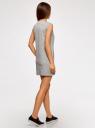 Платье из ткани пике oodji для женщины (серый), 14005074-1B/46149/2501M