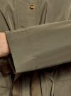 Куртка удлиненная на кулиске oodji для женщины (зеленый), 11D03006/24058/6601N - вид 5