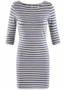 Платье трикотажное базовое oodji #SECTION_NAME# (серый), 14001071-2B/46148/2379S