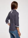 Блузка хлопковая с рукавом 3/4 oodji #SECTION_NAME# (синий), 13K03005B/26357/7910D - вид 3