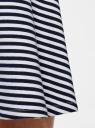 Юбка клеш из хлопка oodji для женщины (белый), 14102002-1/47420/1079S