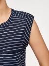Блузка вискозная с нагрудными карманами oodji #SECTION_NAME# (синий), 21412132-5B/24681/7912S - вид 5