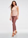 Блузка из ткани деворе oodji #SECTION_NAME# (розовый), 11405092-4/26528/4000N - вид 6