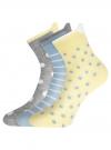 Комплект из трех пар хлопковых носков oodji для женщины (разноцветный), 57102802-3T3/47613/32 - вид 2