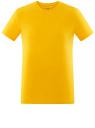 Футболка базовая приталенная oodji #SECTION_NAME# (желтый), 5B611004M/46737N/5200N