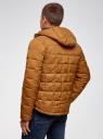 Куртка на молнии с капюшоном oodji для мужчины (коричневый), 1L112025M/33743/4B00N
