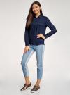 Блузка базовая из вискозы с нагрудными карманами oodji #SECTION_NAME# (синий), 11411127B/26346/7900N - вид 6