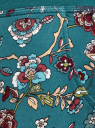 Брюки трикотажные на завязках oodji #SECTION_NAME# (зеленый), 16701042-1B/46919/6D49F - вид 5