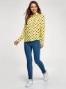 Блузка вискозная прямого силуэта oodji #SECTION_NAME# (желтый), 11411098-3/24681/5029D - вид 6