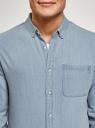 Рубашка джинсовая с нагрудным карманом oodji #SECTION_NAME# (синий), 6L410003M/35771/7000W - вид 4