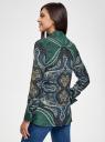 Блузка свободного силуэта с декоративными отстрочками на груди oodji #SECTION_NAME# (зеленый), 21411110/42549/6975E - вид 3