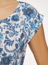 Платье вискозное без рукавов oodji #SECTION_NAME# (белый), 11910073B/26346/1270F - вид 5